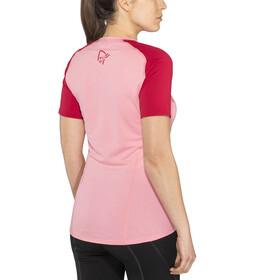 Norrøna Fjørå Equaliser Lightweight Camiseta Mujer, geranium pink